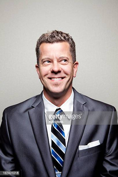 Smiling Caucasian businessman