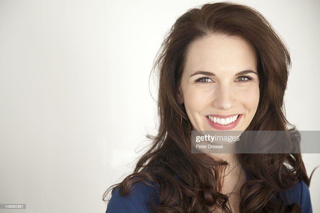 Smiling Caucasian businesswoman : Stock Photo