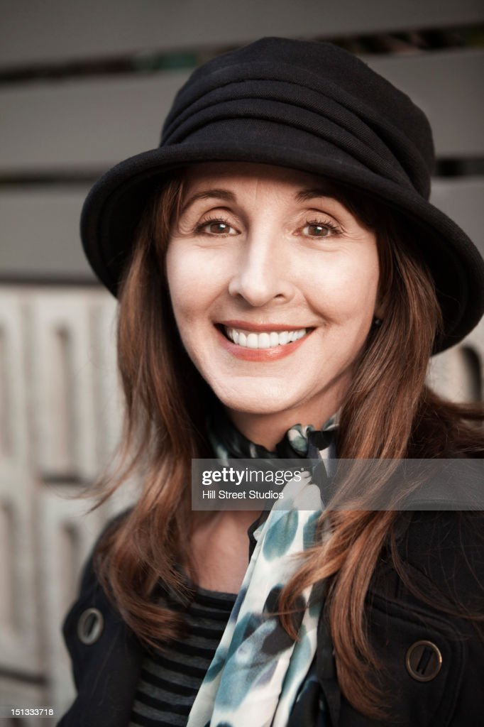 Smiling Caucasian woman : Stock Photo