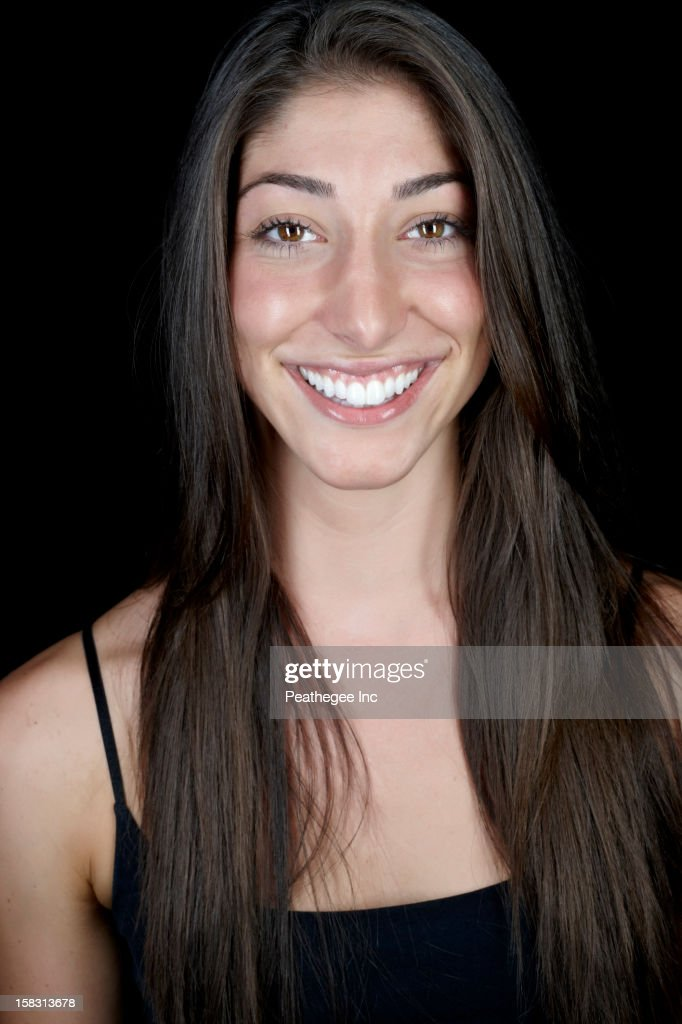 Smiling Caucasian woman : Stock Photo