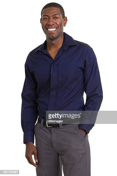 Smiling Cheerful Man Standing Portrait
