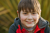 Smiling Chilean boy