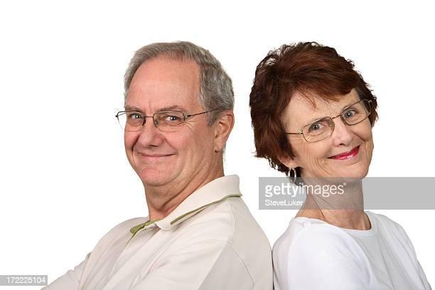 Souriant Couple