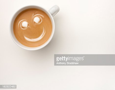 Smiling cup of coffee : Stock Photo