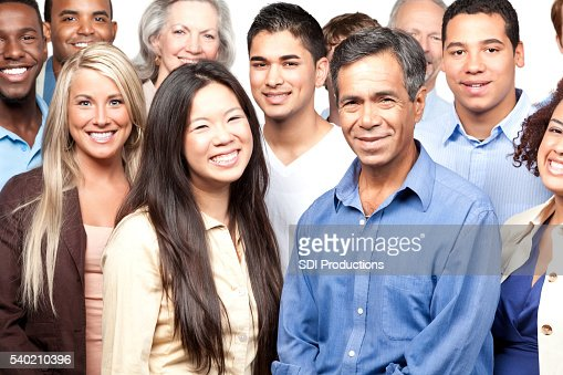 Smiling diverse group of people