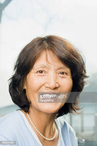 Smiling Elegant Mature Woman
