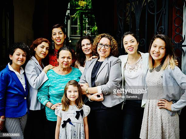 Smiling family of women gathered together