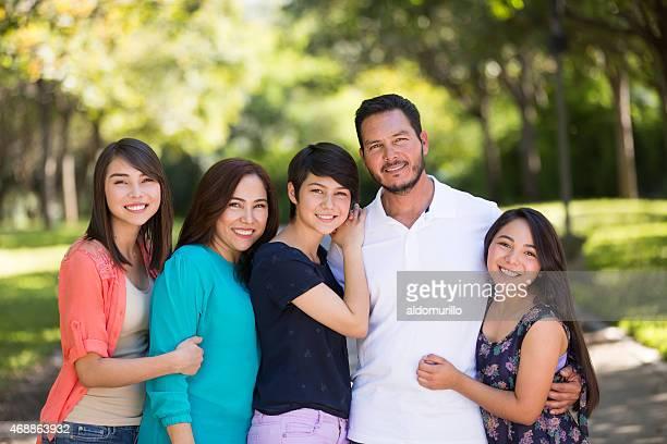 Família sorridente