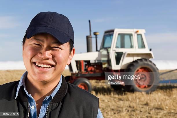 Souriant Farmer