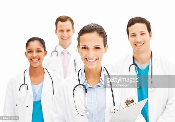 Smiling Female Doctor Holding Chart