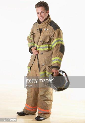 smiling firefighter