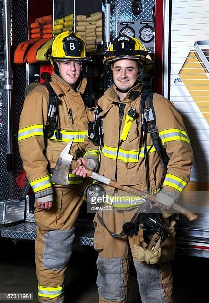 Lächeln Feuerwehrleute