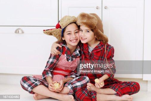 Smiling friends : Stockfoto