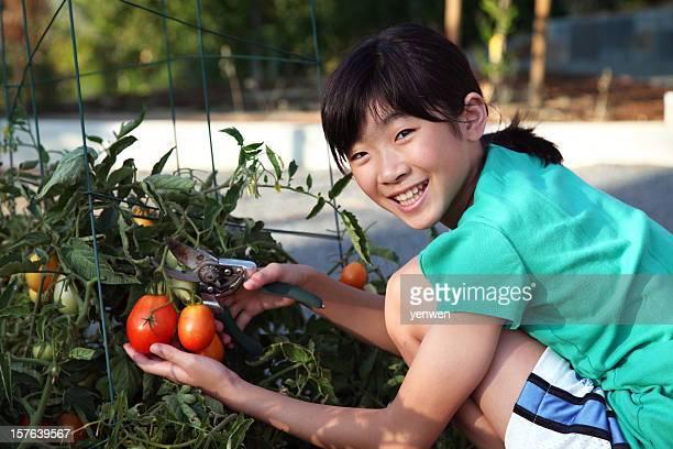 Kleines Mädchen Garten