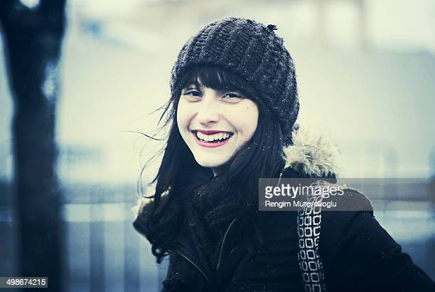 Smiling girl in hat