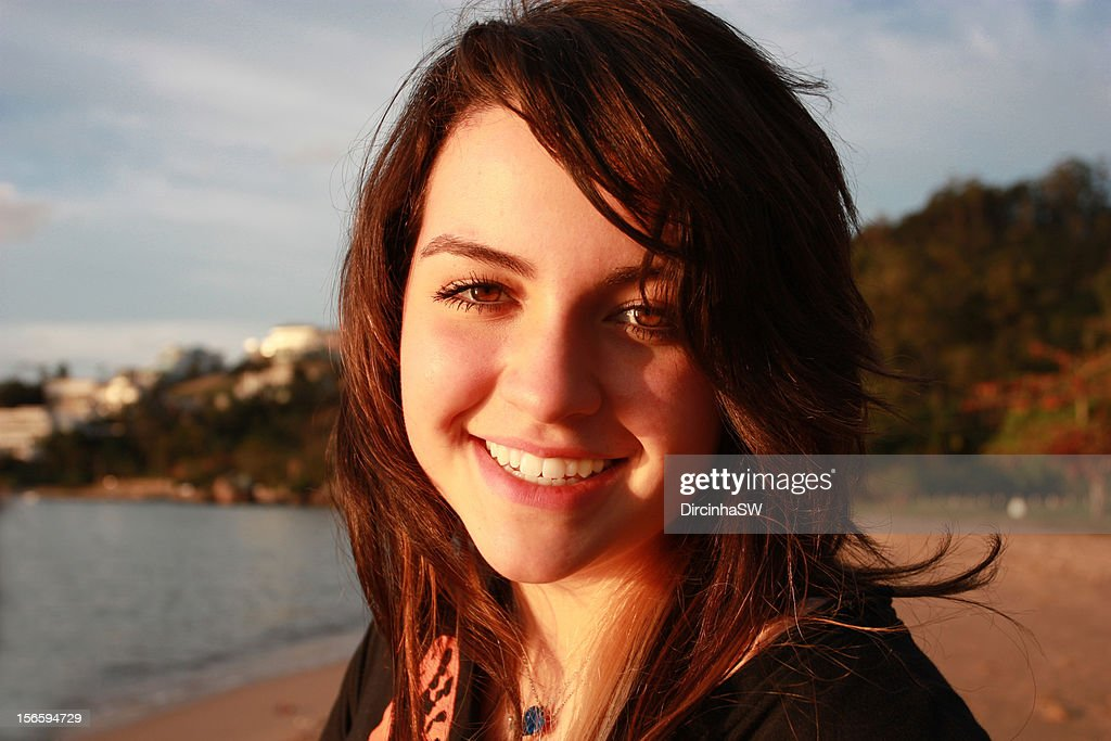Smiling girl. : Stock Photo