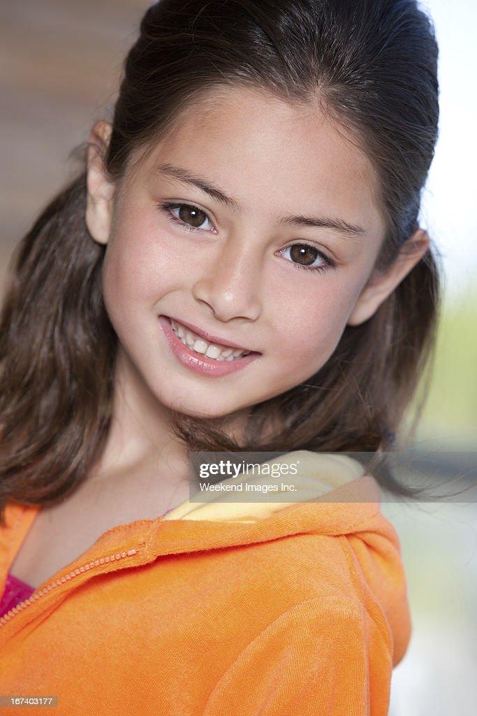 Smiling girl : Stock Photo