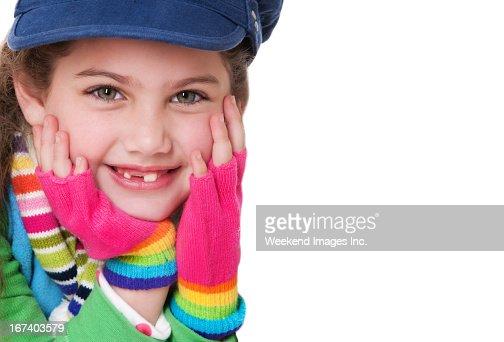 Smiling girl : Stockfoto