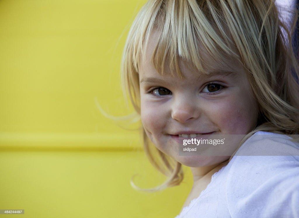 Smiling girl toddler : Stock Photo