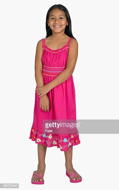 Smiling Girl Wearing Pink
