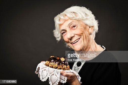 Smiling grandmother