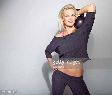 Smiling gym Girl : Stock Photo