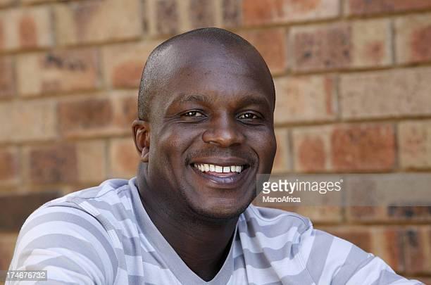 Smiling happy black male