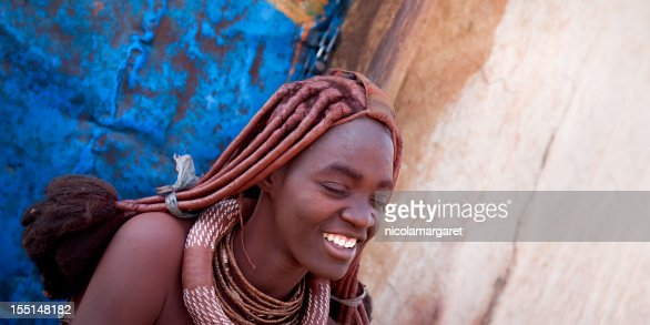 Smiling Himba woman.