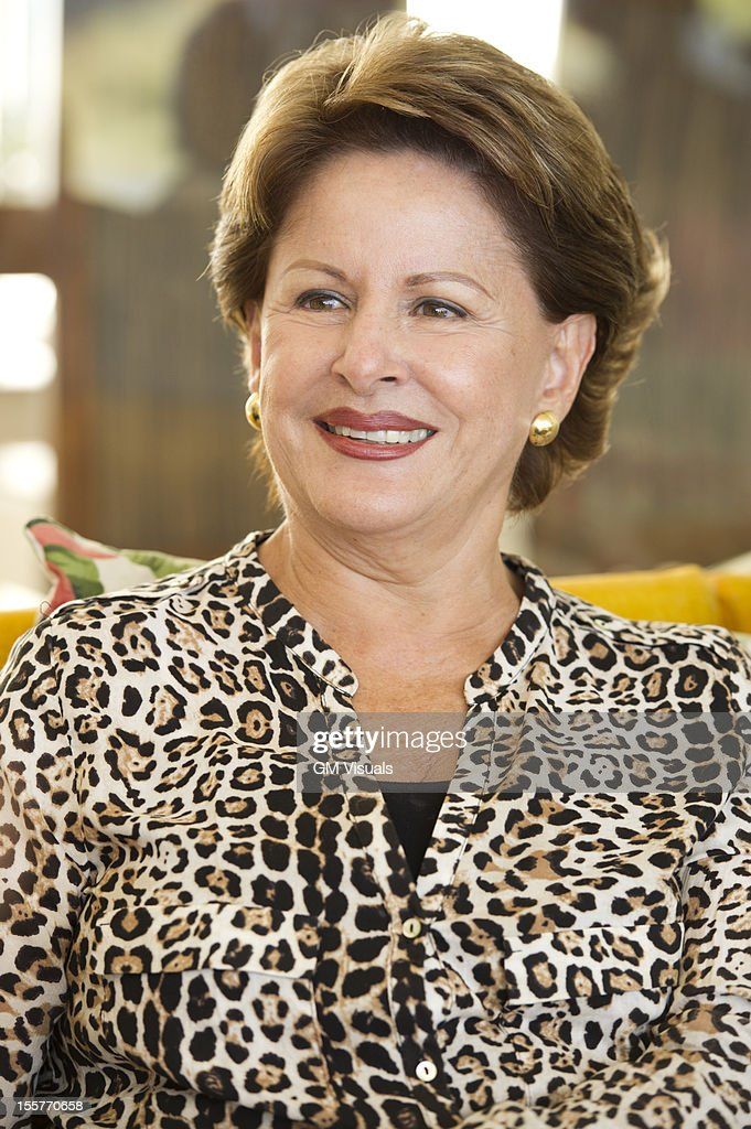 Smiling Hispanic woman : Stock Photo