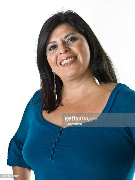 smiling hispanic woman