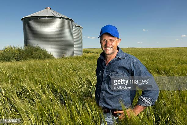 Smiling in a Wheatfield