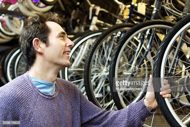 Lächeln in dem Fahrrad entdecken