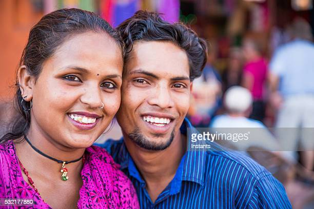 Smiling Indian couple