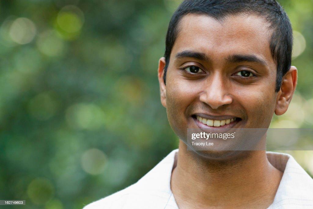 Smiling Indian man