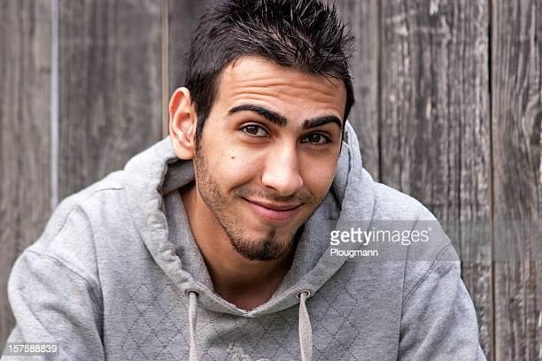 Smiling iraqi man