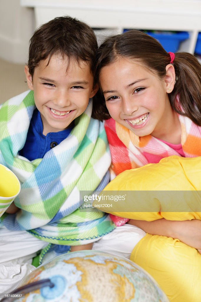 Smiling kids : Stockfoto