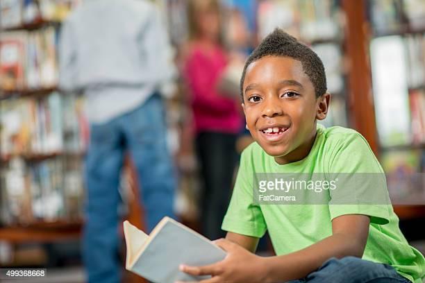 Smiling Little Boy at School
