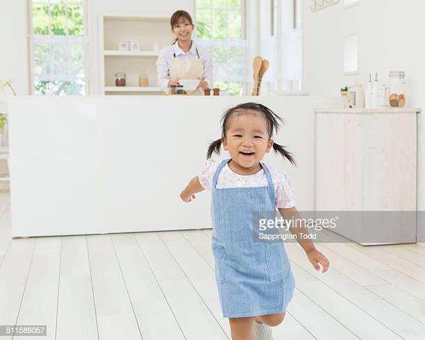 Smiling Little Girl Running