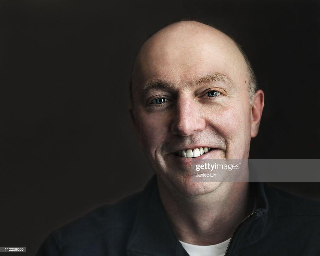 Smiling male portrait : Stock Photo