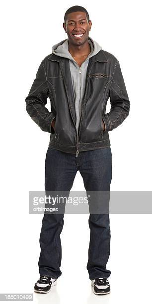 Smiling Man Full Length Portrait