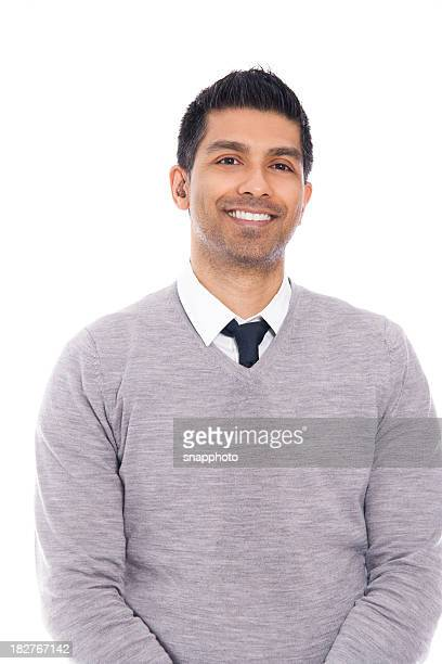 Smiling Man Isolated on White Background