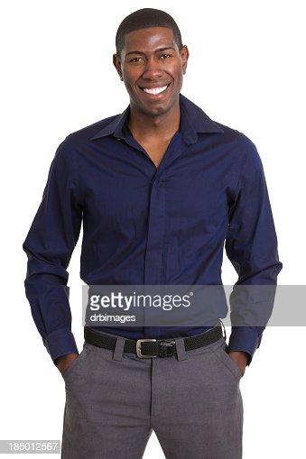 Smiling Man Standing Portrait