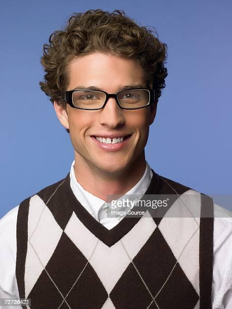Smiling man wearing a tank top