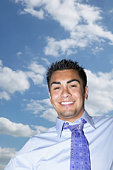 Smiling man with sky