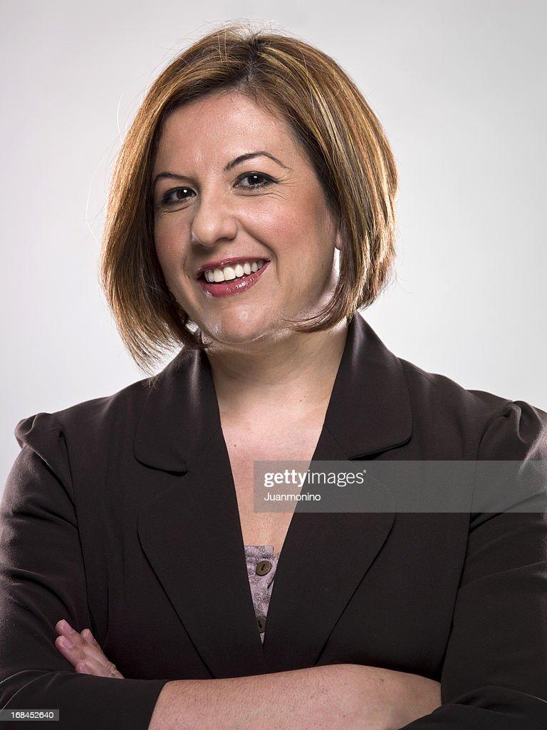 Smiling Mature Hispanic Female Executive (real people)