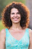Smiling mature hispanic woman