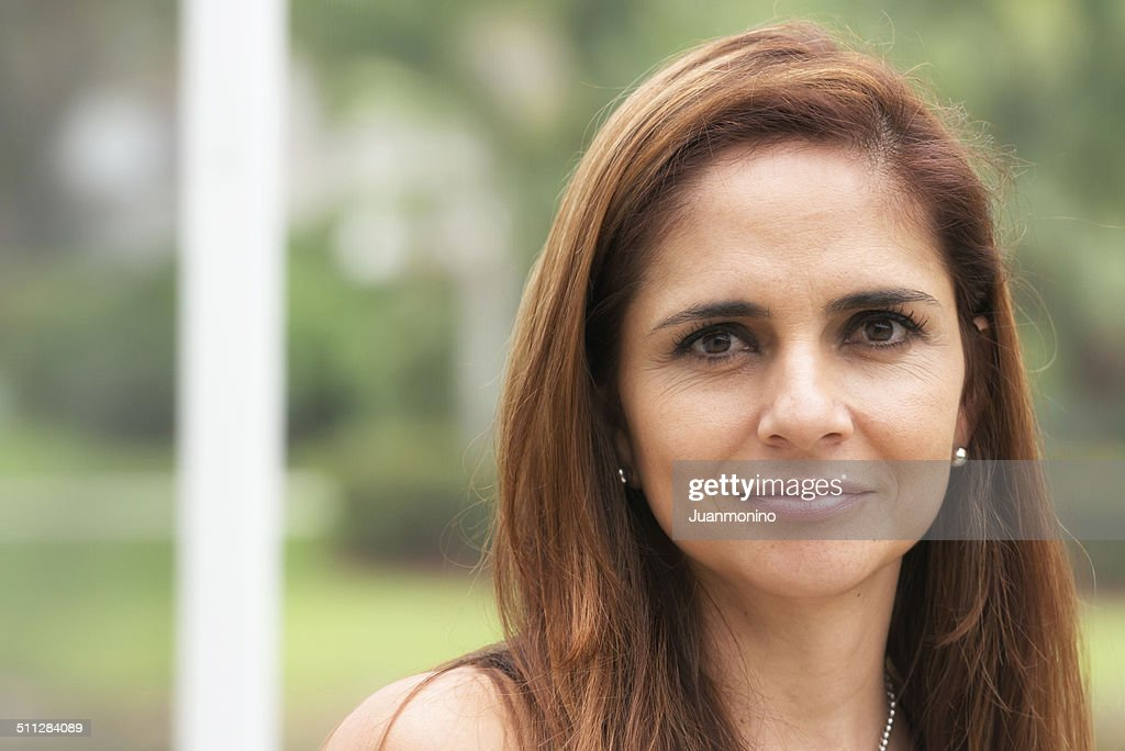 Smiling mature hispanic woman