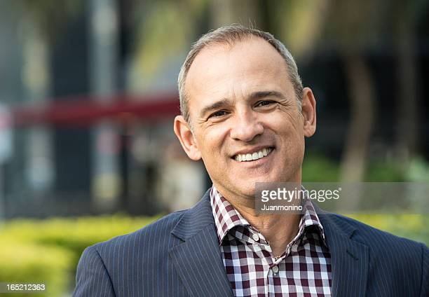 Smiling mature man