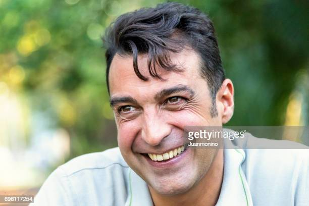 Lächelnd Reifer Mann