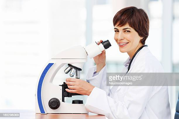 Smiling Medical Research Woman